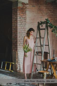 Caroline Campion natural silk bridesmaid dresses   Two piece tops + skirts for multiple flattering looks   Ships worldwide, available at http://www.carolinecampion.com/collection/bridesmaid-15/   Susannah Blatchford Photography #CampionCouture