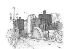 Laura Pinto Coelho - Viaduto Santa Tereza - Belo Horizonte  #croqui #ilustração #drawing #illustration #architecture