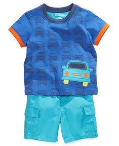 First Impressions Playwear Separates, Baby Boys Graphic Tee and Cargo Short Seperates - Kids Baby Boy (0-24 months) - Macys