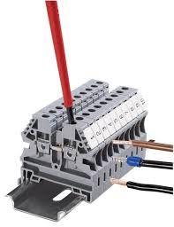 #wiring #Verkabelung Schraubverbindungsklemme (German) –  screwed-connection terminal, screw terminal, screw-connection terminal #translation