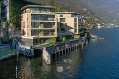 Development of 12 high-end residential apartment facing Como Lake. Lake Como, Paths, In This Moment, Mansions, House Styles, Mansion Houses, Manor Houses, Fancy Houses, Palaces