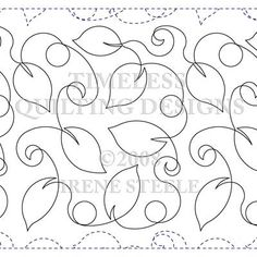 leaf quilting design