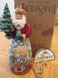 Jim Shore-Simple Gifts-Santa with Tree Mini Figurine 4008993
