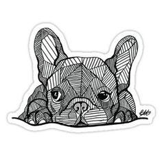 Animal Drawing French Bulldog Puppy Sticker - A new design by georgieartist! Its a French Bulldog Puppy! Tattoo Bulldog, French Bulldog Tattoo, Buy French Bulldog, French Bulldog Puppies, French Bulldogs, Dog Tattoos, Animal Tattoos, Bulldogge Tattoo, French Bulldog Drawing