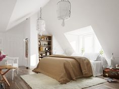 These Scandinavian Styled Bedrooms will leave you mesmerised. Bed Design, Traditional Bedroom, Scandinavian Bedroom, Studio Interior, Bedroom Design, Scandinavian Style Home, Interior Design, Interior Design Bedroom, Furniture Design