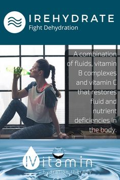 When a person becomes dehydrated, water, electrolytes and essential nutrients are lost from the body. Our base treatment is the combination of fluids, B complexes and vitamin C which can help restore fluid and nutrient deficiencies.  IRehydrate can get your body back to its natural functioning state. http://ivitamintherapy.com/
