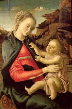 Sandro Botticelli - Madonna and Child 	1465-1470 	Tempera on panel 	73 x 50 cm 	Musée du Louvre, Paris