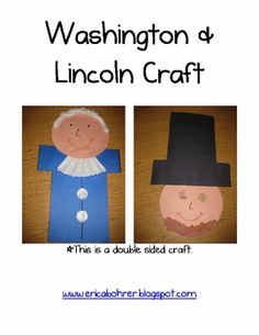 George Washington.... flip it over and it's Abraham Lincoln!! So cute and perfect for Presidents Day!