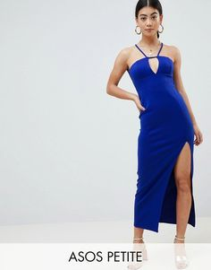 ASOS DESIGN Petite scuba maxi dress with lace back detail Petite Outfits, Petite Dresses, Dresses For Sale, Asos, Short Long Dresses, Dress Outfits, Fashion Outfits, Beautiful Prom Dresses, Going Out Dresses