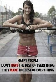 Just be happy and get fit and lose weight with us....:-)