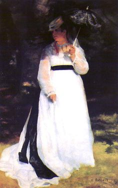 Pierre Auguste Renoir - Lise con L'ombrello 1867 - Olio su tela - Essen, Germania, Folkwangmuseum