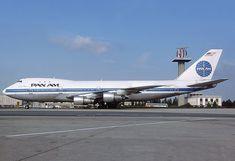 """Pan American World Airways Boeing 747-132(SF) N725PA """"Clipper Mandarin"""" at Paris-Charles de Gaulle, August 1986. (Photo: Michel Gilliand)"""