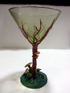Tree Martini - Polymer Clay on Martini Glass. Starting at $10 on Tophatter.com! June 20th at 2pm CT!