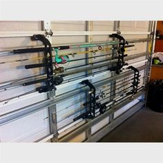 Best Picture For going Fishing Humor For Your Taste You are looking for something, and House Of Philia, Garage Storage Racks, Door Storage, Black Garage Doors, Garage Workshop Organization, Workshop Storage, Workshop Ideas, Couple Room, Garage Door Makeover