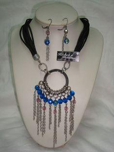 crystals and silk cord...#necklace #fashion #moda