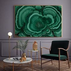 Quadro de pedra, verde escuro.