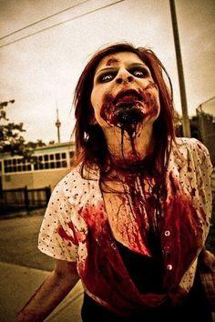 Really scary Halloween makeup