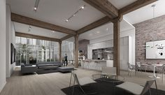 """Alloy Development wants everyone to know that the lofts at 185 Plymouth Street, an old Brillo factory in Dumbo, are going to be big. How big? According to the teaser website: """"Really, really, really big"""" """"Too mammoth for Manhattan."""" """"Ridiculously large,"""" """"Hunormous,"""" """"A shipload of space."""" There's no square footage to back up those claims, but the renderings do look quite spacious. Brownstoner reports that Alloy received approval from the Landmarks Commission, and construction on the 10…"""