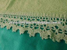 Artes na Passarela: Toalha de rosto com barrado de crochê