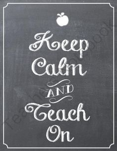 Keep Calm Chalkboard Classroom Sign from Chic Classroom Style on TeachersNotebook.com (1 page) - This a beautiful 8x10 Keep Calm and Teach On Chalkboard sign. It is a great addition to any classroom!