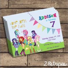 Mlp - my little pony equestria girls - birthday party invitation