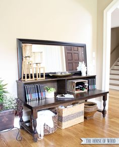 DIY Foyer Console