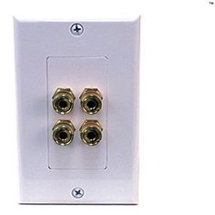 Banana Plug Wall Plate Amazing 12 Speaker Wall Plate With Gold Plated Posts  Outdoor Home Theater Decorating Inspiration