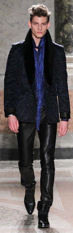 Roberto Cavalli Fall 2015 Menswear