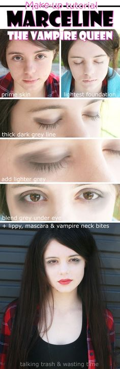 Marceline the Vampire Queen Make-up Tutorial, perfect for an Adventure Time Halloween dress up.