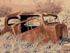Remove rust from a car door