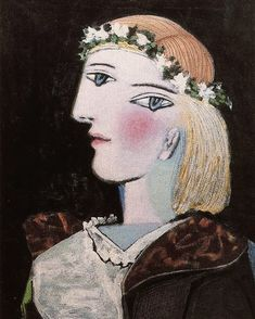 Portrait of Marie-Therese Walter with garland, 1937, Pablo Picasso