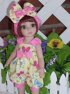 "Created for10"" Patsy, Ann Estelle--  romper -- headband----- Summer Butterflies"