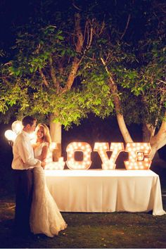 35  Awesome LOVE Letters Wedding Decor Ideas | http://www.deerpearlflowers.com/35-awesome-love-letters-wedding-decor-ideas/
