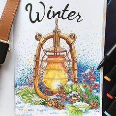 И снова #lk_newyear тема 2/8 - Winter lanterns. Не смогла устоять и нарисовала фонарик, на этот раз маркерами, акварель не моё все-таки... #drawing #painting #sketch #newyear #sketchbook #sketching #sketchmarkers #sketchmarker #markers #savannasketch #lantern #illustration #art#winter#glenka_art