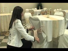 This video shows you how to properly do sash and chair cover installation! I never knew I had so many possibilities!