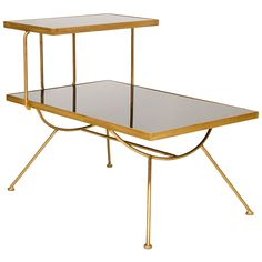 Worlds Away Monica Gold Leaf Iron Side Table @Zinc_Door
