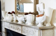 "Peter adores white vases designed by Constance Spry, whom he describes as ""the Martha Stewart of 1920s England."""