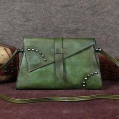 Handmade Women Messenger Bag, Vintage Shoulder Bag, Ladies Purse A0048