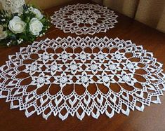 crochet doily,white doily,oval doily,rugs,lace doily,crochet tablecloch,crochet rug,table decor,lace tablecloth,set of doilies,large doily