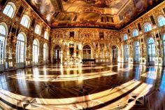The Ballroom of Catherine Palace, Tsarskoe Selo, Russia