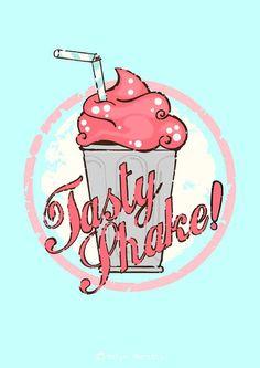 Tasty Milkshake Original Art Print Illustration