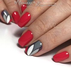 Ideas For Fails Art Printemps Rouge Love Nails, Red Nails, Pretty Nails, Nailart, New Nail Art, Fabulous Nails, Creative Nails, Manicure And Pedicure, Nails Inspiration