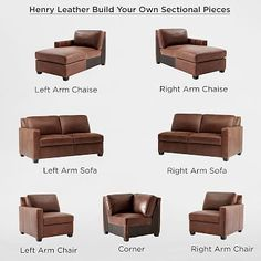 Build Your Own - Henry® Leather Sectional Pieces #westelm