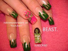 IM A BEAST. beast nail art. robinmosesnailart on YOUTUBE! Awesome nail tutorials!