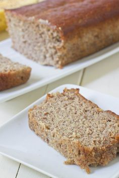Almond Butter Banana Bread - 7 Almond Butter Recipes That Will Satisfy Every Craving You Have . Banana Bread Almond Flour, Almond Flour Recipes, Healthy Banana Bread, Banana Bread Recipes, Almond Butter, Paleo Bread, Almond Meal, Bread Baking, Biscuits