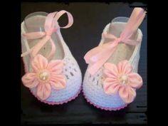Como hacer unos zapatitos, botas,sandalias a crochet (ideas) - YouTube