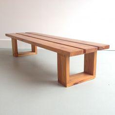 Bench by Ate van Apeldoorn for Houtwerk Hattem, Diy Wooden Projects, Diy Furniture Plans Wood Projects, Diy Pallet Furniture, Woodworking Projects Diy, Woodworking Furniture, Diy Bank, Outdoor Furniture Plans, Outdoor Wood Bench, Small Wooden Bench