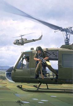 Vietnam Door Gunner, GI Joe illustration by Larry Selman Vietnam History, Vietnam War Photos, South Vietnam, Vietnam Veterans, Military Helicopter, Military Aircraft, Military Art, Military History, Gi Joe