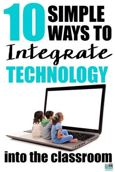 10 Simple Ways to Integrate Technology in the Classroom without the stress. Wonderful tools to be used in the classroom with upper elementary and middle schoolers. Teaching Technology, Technology Tools, Technology Integration, Teaching Tools, Educational Technology, Teaching Resources, Futuristic Technology, Technology In Classroom, Technology Design