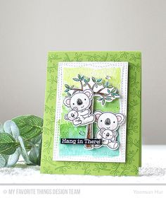 RejoicingCrafts: MFT April Release Countdown Day 3. #mftstamps #handmade #card #watercolor #koala #stamping